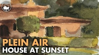 Painting a House at Sunset - Plein Air Adventure 62
