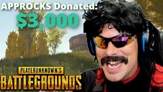 Doc gets a $3,000+ Donation and Best Moments on PUBG!
