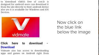 Installing Vidmate App on Android mobile