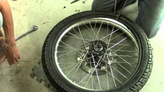 How To Change A Motorcycle Inner Tube