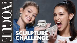 Gigi And Bella Hadid Take The Sculpture Challenge   British Vogue