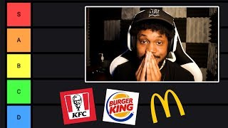 The ULTIMATE FAST FOOD Tier List (most correct on youtube)