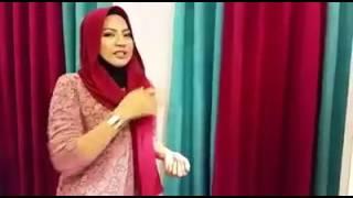 Cara pakai shawl simple dan mudah buat instant dua muka