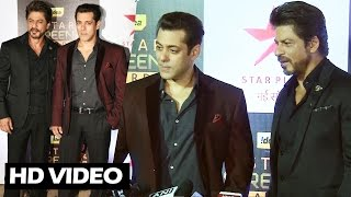 (Video) Salman Khan & Shahrukh Khan At Star Screen Awards 2016