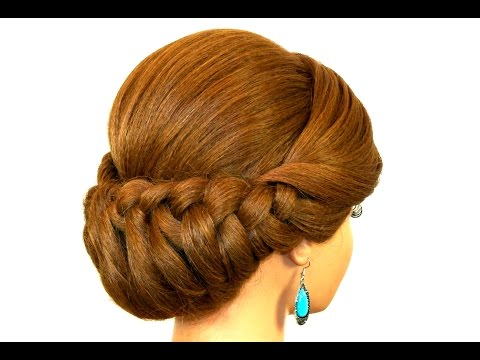 Xxx Mp4 Braided Updo Hairstyle For Medium Long Hair Tutorial 3gp Sex