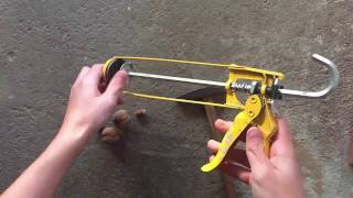 HOW TO CRUSH NUTS WITH SILICONE GUN