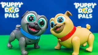 PUPPY DOG PALS Disney Rolly and Bingo Funny Missions Toys Unboxing