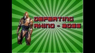 Warframe (Defeating Boss Rhino)