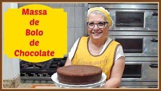 COMO FAZER MASSA DE BOLO DE CHOCOLATE