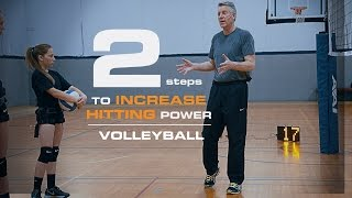 How to Hit a Volleyball Harder in 2 Steps