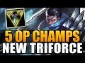Download Video Download 5 OP CHAMPIONS WITH NEW TRINITY FORCE - League of Legends 3GP MP4 FLV