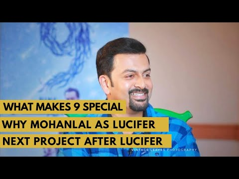 WHY MOHANLAL AS LUCIFER  Interview With Prithviraj Sukumaran   Nine Movie   Next Project as Director