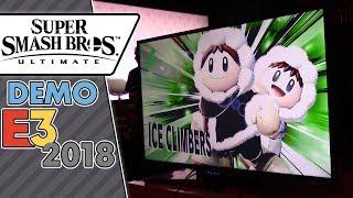 Super Smash Bros. Ultimate - Ice Climbers vs. Inkling vs. Ridley vs. Samus! (E3 2018 gameplay)
