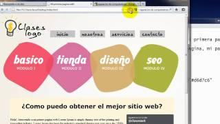 Como crear una pagina web completa en HTML - 6