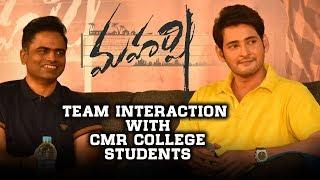 College lo Maharshi - Interaction with CMR College Students - Mahesh Babu, Vamshi Paidipally