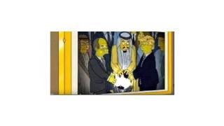 donald trump and saudi arabia king - The Simpsons