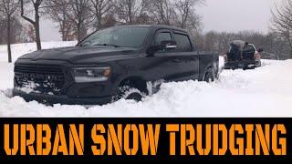 Urban Snow Trudging! 2019 Ram + Dodge Dakota And Ford Explorer