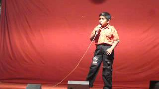 Six year old sings a Hindi Song