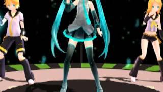 【MMD】 Only my railgun 【Miku, Len, Rin】