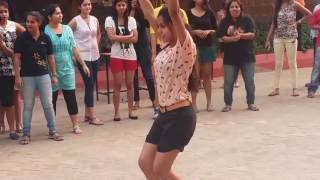 Cute Hot  Girl Dance Steps At Campus Event