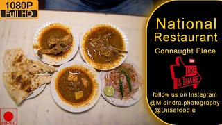 Chicken Curry And Dahi Meat At National Restaurant #dilsefoodie #nationalrestaurent #connaughtplace