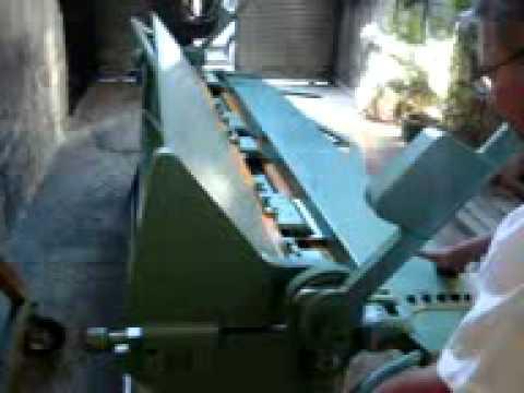 Video demostracion de dobladora de lamina