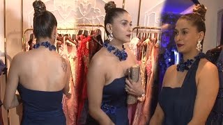 Sexy Shilpa Sakhlani in Strapless Gown at Rebecca Dewan's Store Launch