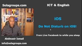 Do NOT disturb on iOS!