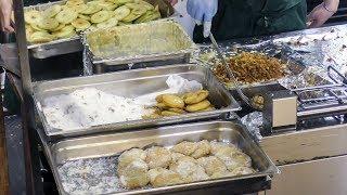 Cooking Fried Apple Dumplings. Italian Street Food