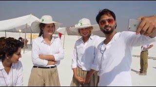jatti de nain new panjabi song  full masti on set , roshan prince with  american artist