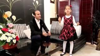 هنر دختر نابغه ایرانی در کنار سیاوش قمیشی