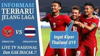 Jadwal Siaran Langsung Indonesia U19 VS Thailand U19