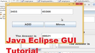 Java Eclipse GUI Tutorial 1 # Creating  First GUI Project in Eclipse