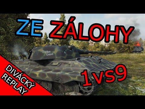 1vs9! Ze zálohy - Divácký replay (World of Tanks CZ)