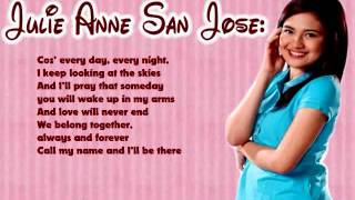 I'll Be There   Julie Anne San Jose   Lyrics
