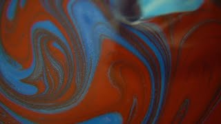 Red And Blue Blending Paint Stock Video