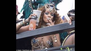 Rihanna Twerks and Shows Off Her Nearly Naked Body While Celebrating Carnival in Barbados.