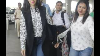 Preity Zinta and Karisma Kapoor at the airport