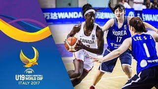 Canada v Korea - Full Game - FIBA U19 Women's Basketball World Cup 2017