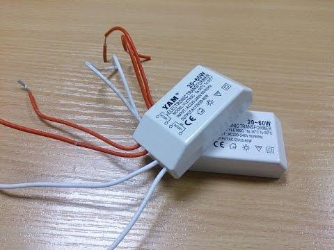 Трансформатор 220 на 12 вольт для светодиодных ламп своими руками 87