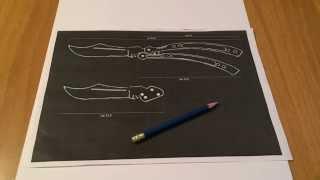 Как сделать нож бабочка из бумаги cs go