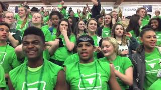 Tigard High cheers for the girls team against Sheldon