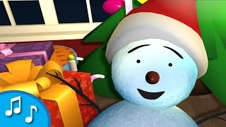 Christmas song for kids | Deck the halls | Snowman wakes up for Christmas | tinyschool