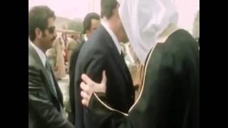 لقطات قديمه لحظة تشيع جنازة الملك فيصل رحمه الله بحضور قادة العرب
