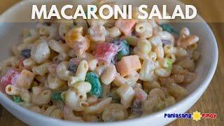 Filipino Sweet Macaroni Salad - Panlasang Pinoy