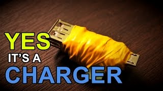 DIY portable Charger in 1$ | 9v battery.