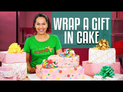 How To Make A SURPRISE INSIDE GIFT BOX Cake With REAL GIFT INSIDE Yolanda Gampp How To Cake It