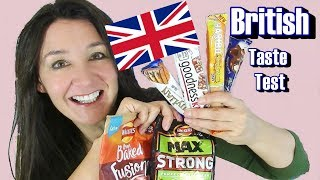 British Taste Test Walkers Crisps sweets and more