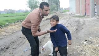 هذا الطفل يتحايل على والده لكى يدرب كلبه // ياسين يهتم بكلبه اكثر من نفسه