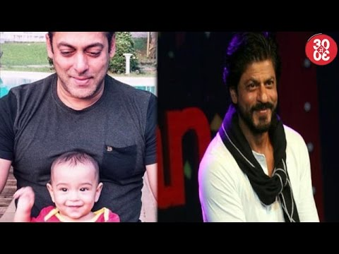 Salman Khan Bonds With Nephew Ahil | Shahrukh Says He Can't Describe Himself